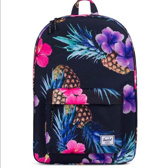 9ddcc9e958e NEW Herschel Black Pineapple Classic Backpack